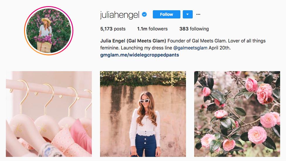 Julia Engel Gal Meets Glam best influencers 2017