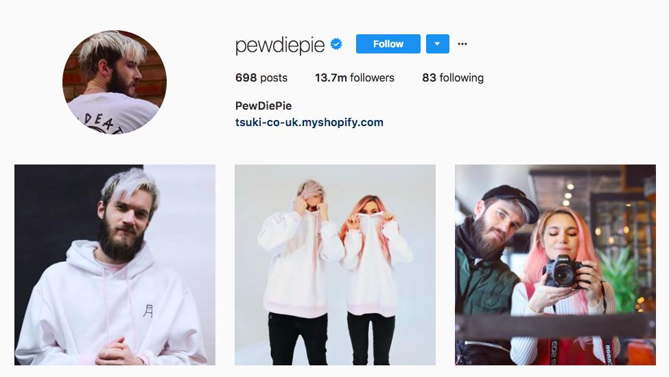 PewDiePie best influencers 2017