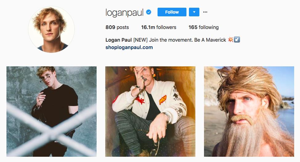 Logan Paul best influencers 2017