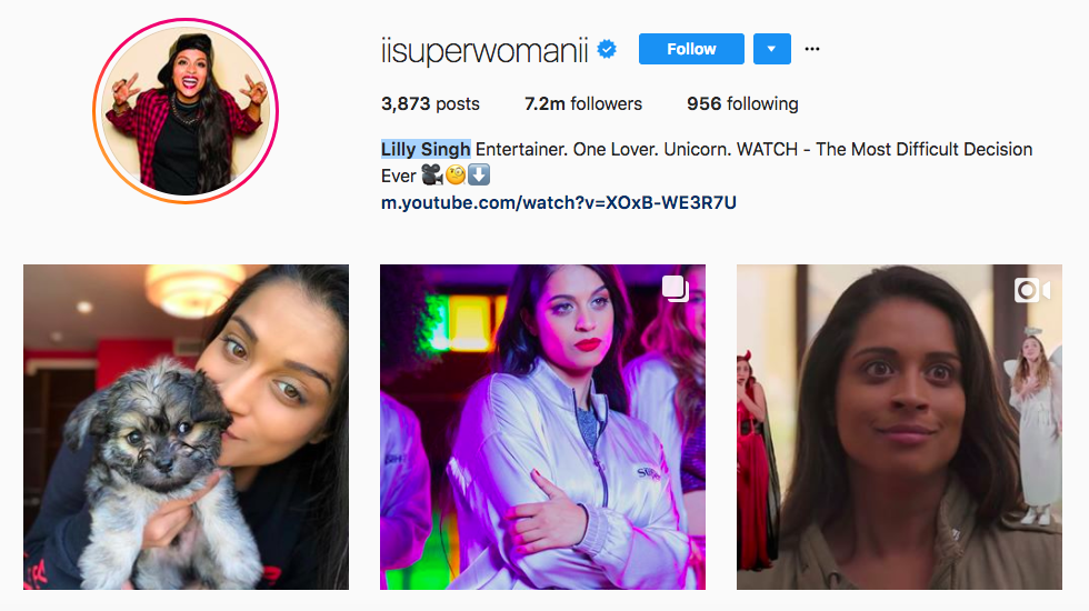 Lilly Singh best influencers 2017