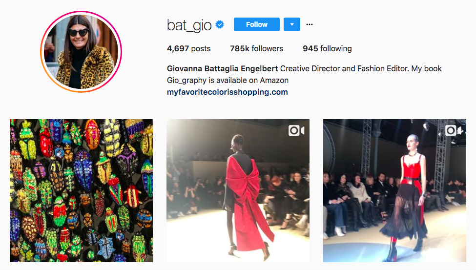 Giovanna Battaglia Engelbert top fashion Instagram Influencer