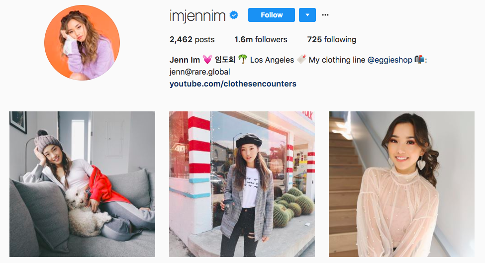 Jenn Im Top Fashion Instagram Influencers