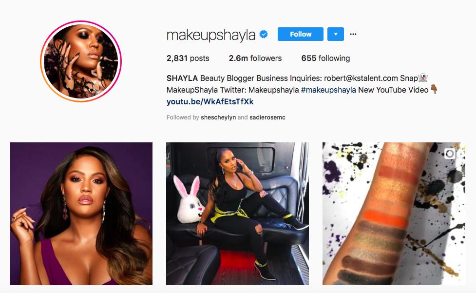 SHAYLA top black social media influencers
