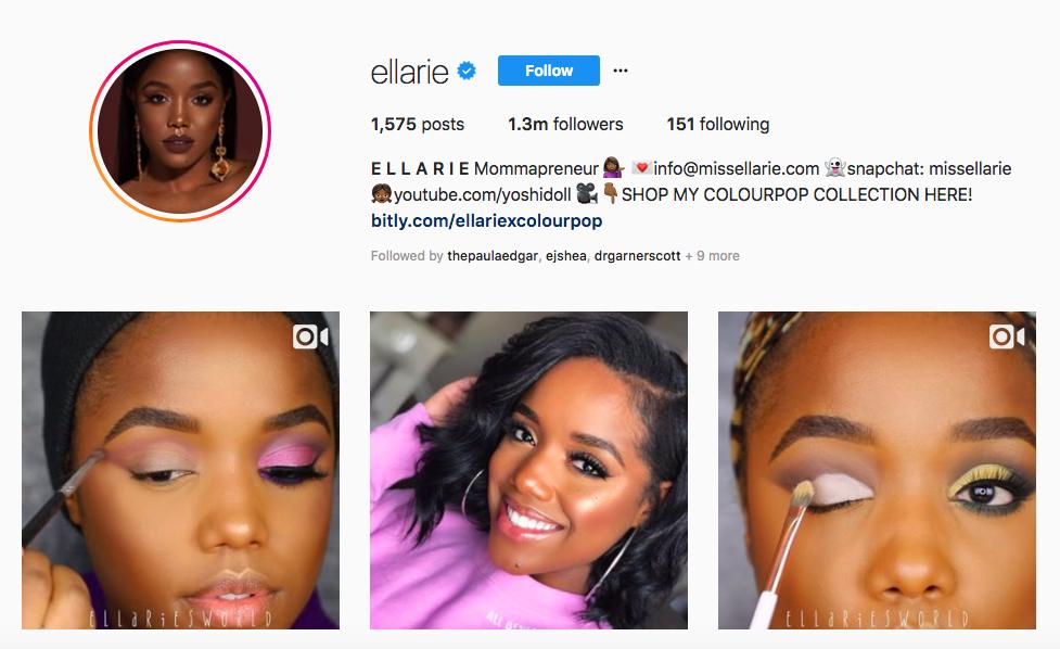 ellarie top black social media influencers