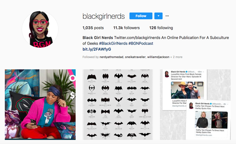 Black Girl Nerds top black social media influencers