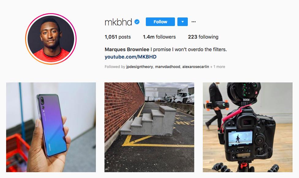 Marques Brownlee top black social media influencers