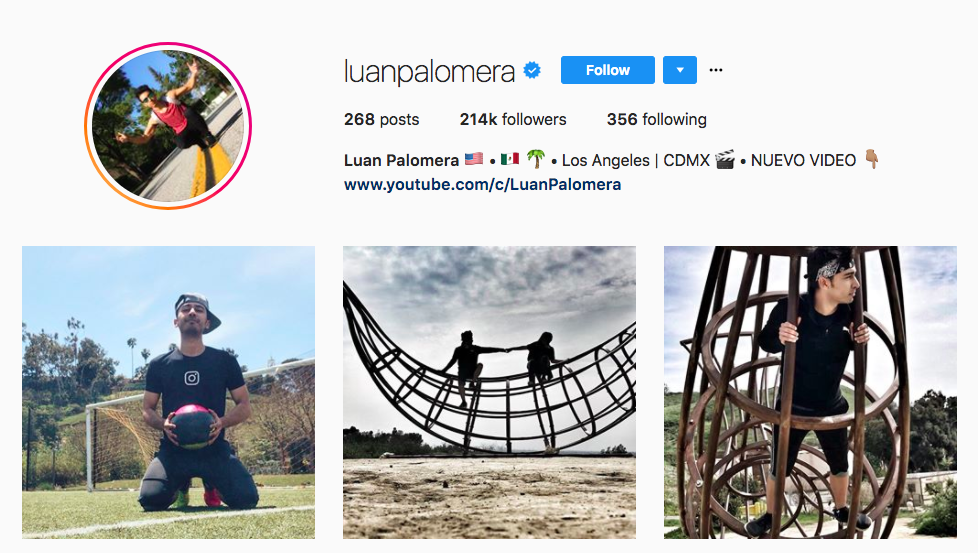 Luan Palomera top hispanic social media influencers