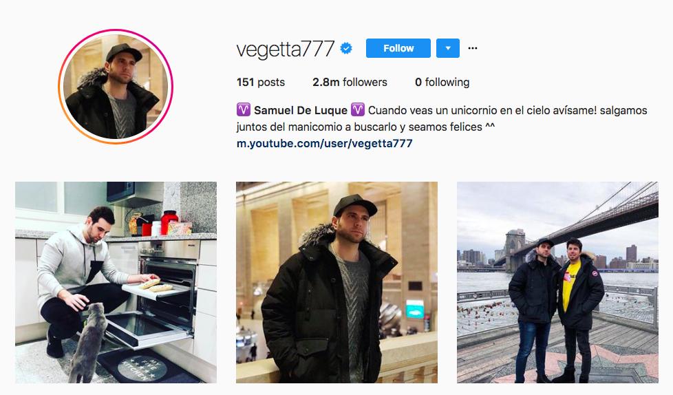 Samuel De Luque top hispanic social media influencers