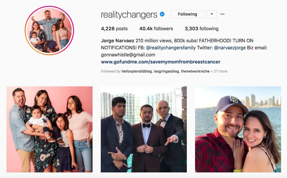 Jorge Narvaez top hispanic social media influencers