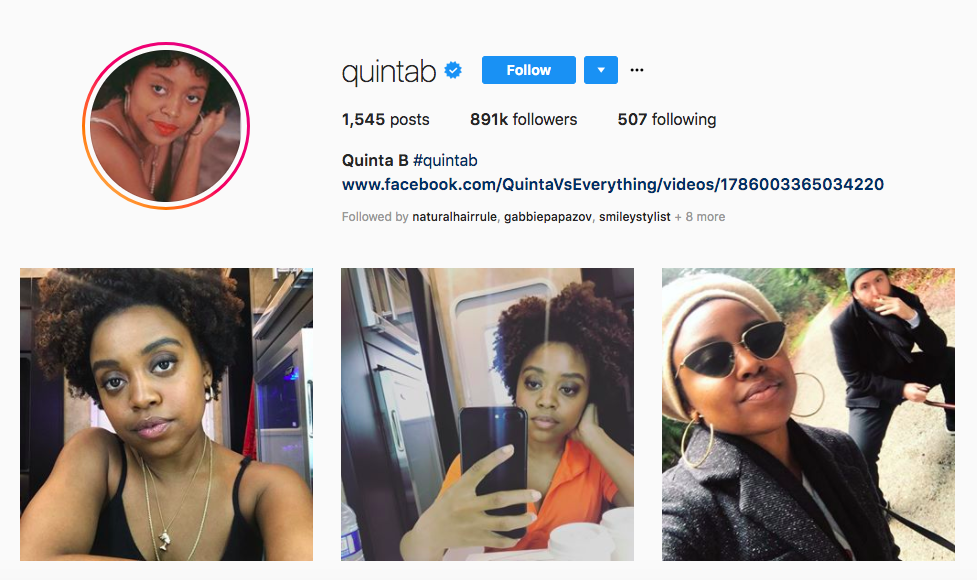 Quinta B top African American Influencers