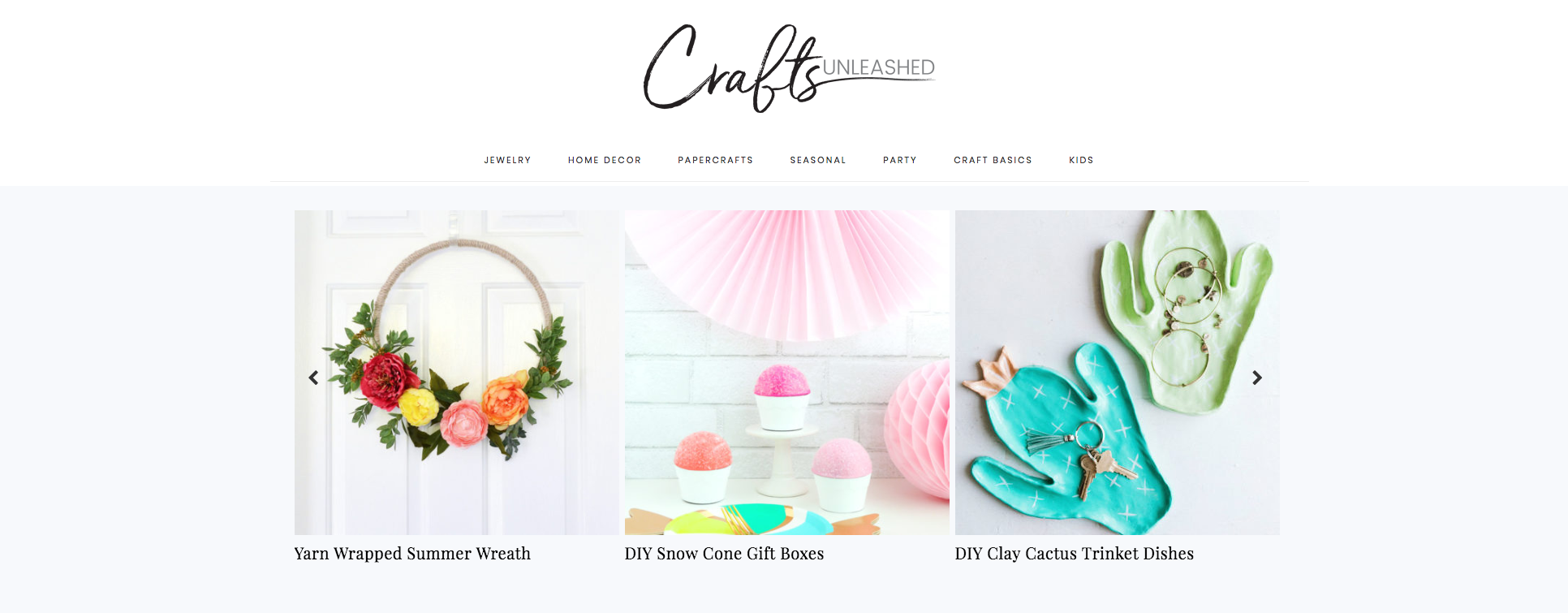 Crafts Unleashed DIY Craft Blogs