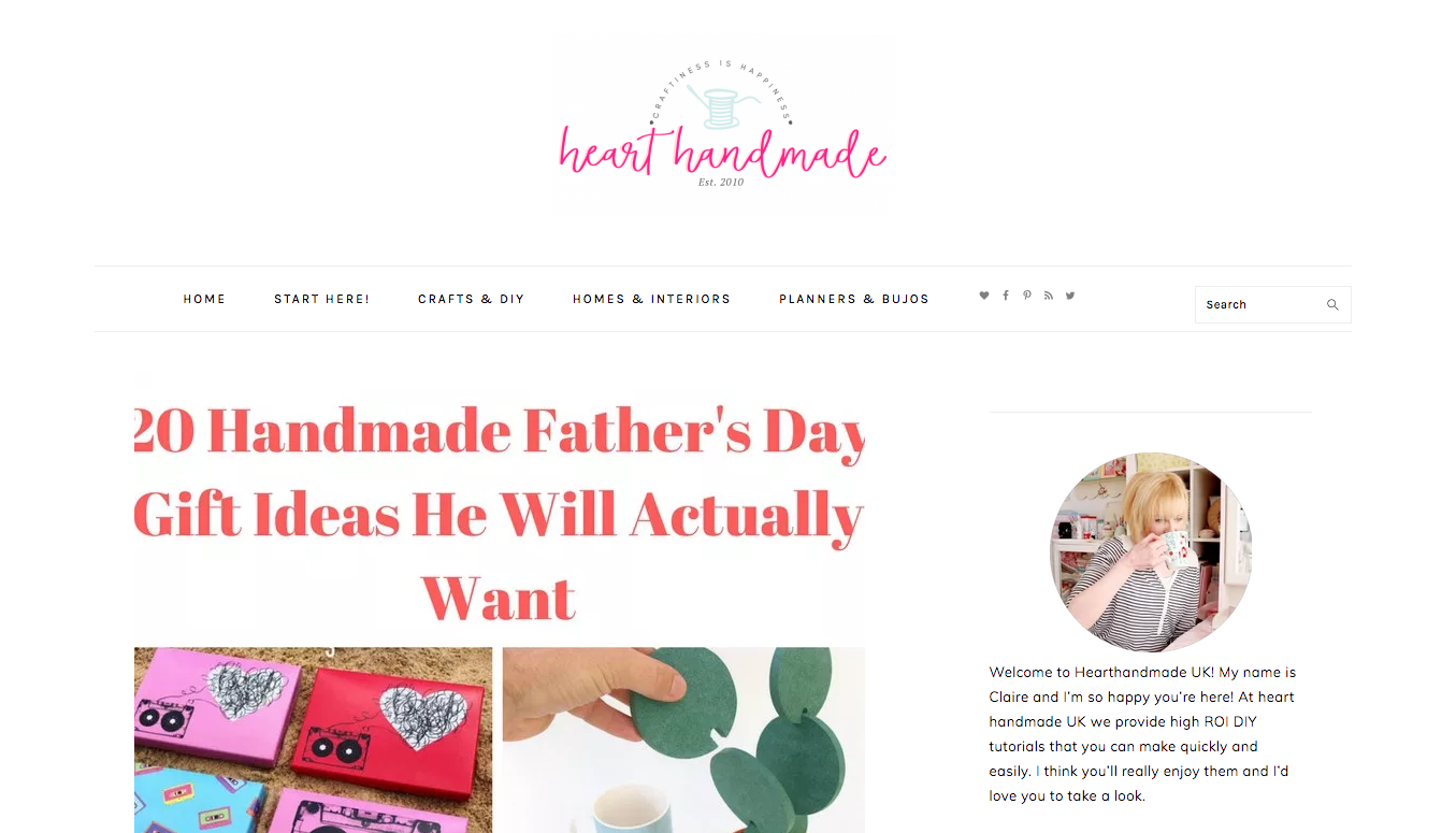 heartmade diy craft blogs
