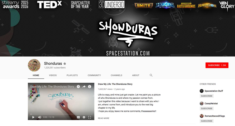 Shonduras top daily youtube vloggers