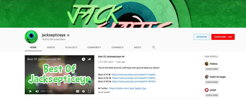 jacksepticeye top daily youtube vloggers