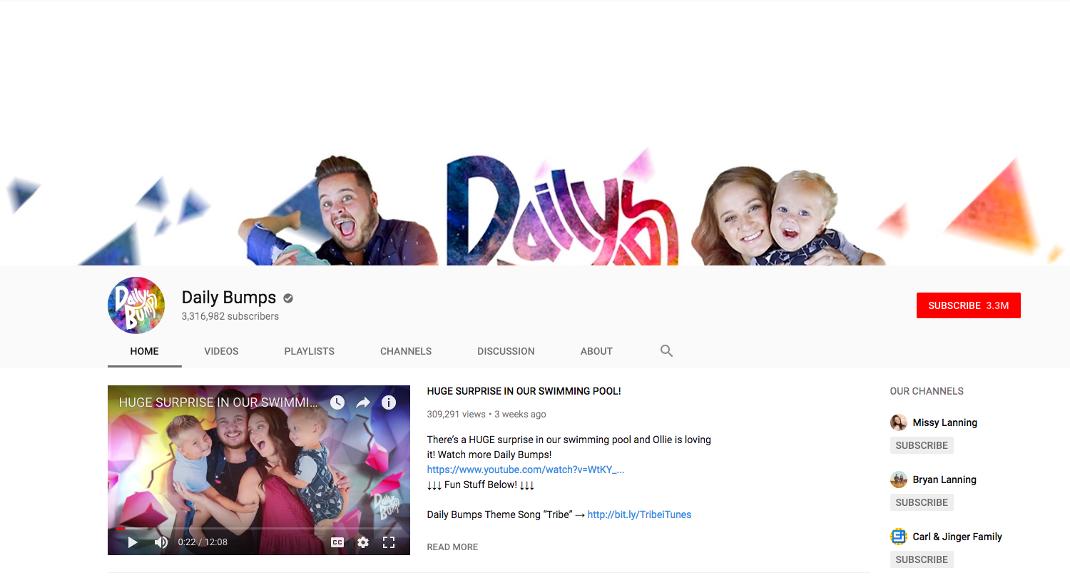 Daily Bumps top daily youtube vloggers