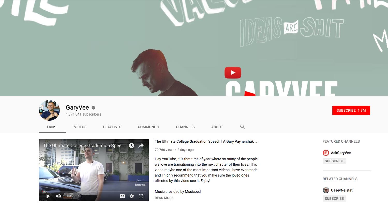 GaryVee top daily youtube vloggers
