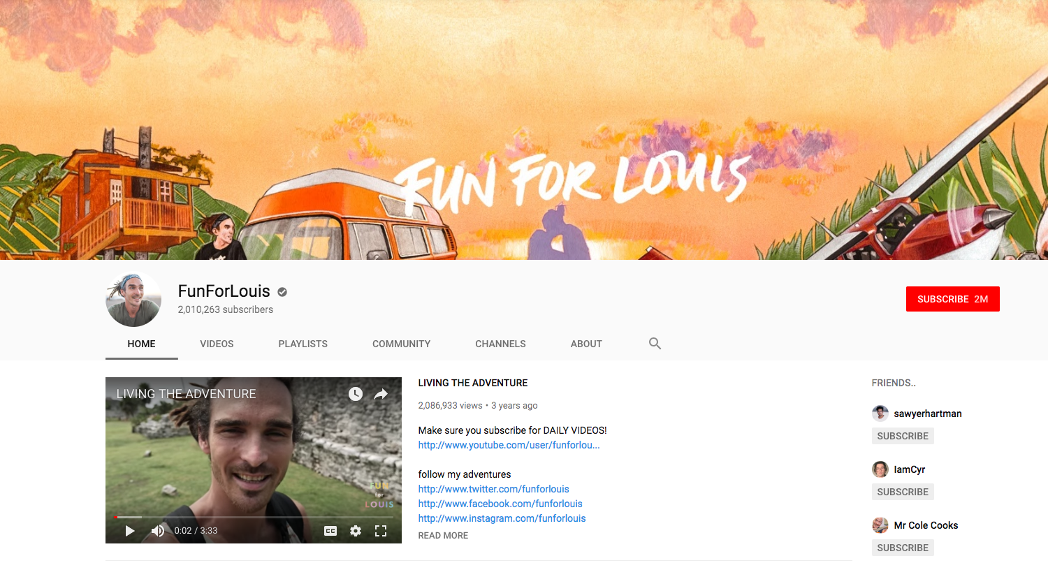 FunForLouis top daily youtube vloggers