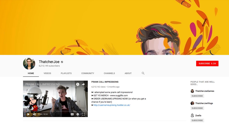 ThatcherJoe top daily youtube vloggers