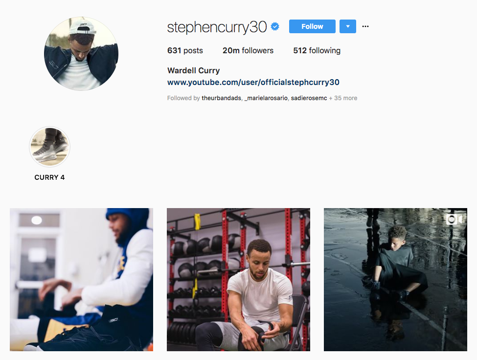 Stephen Curry top sports influencers