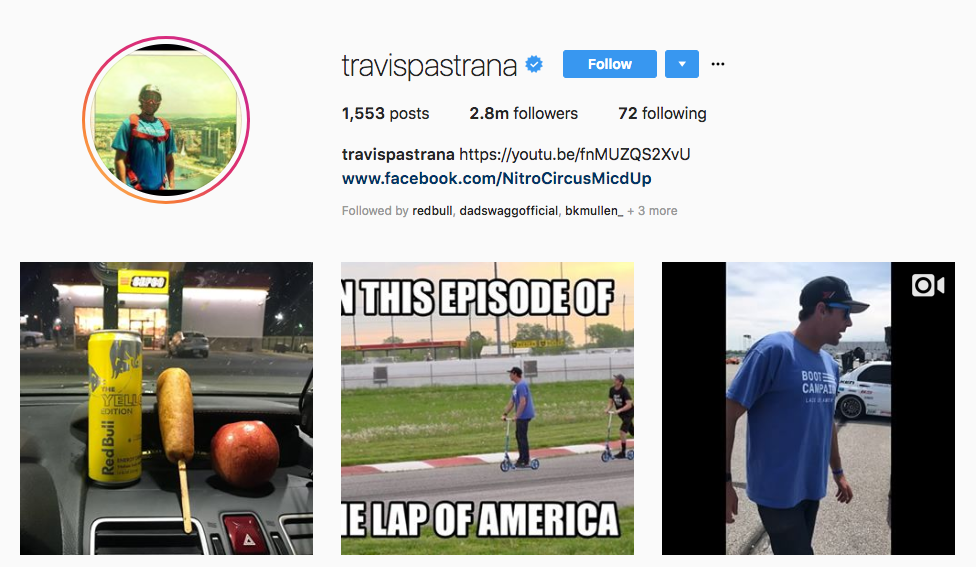 travis pastrana top sports influencers