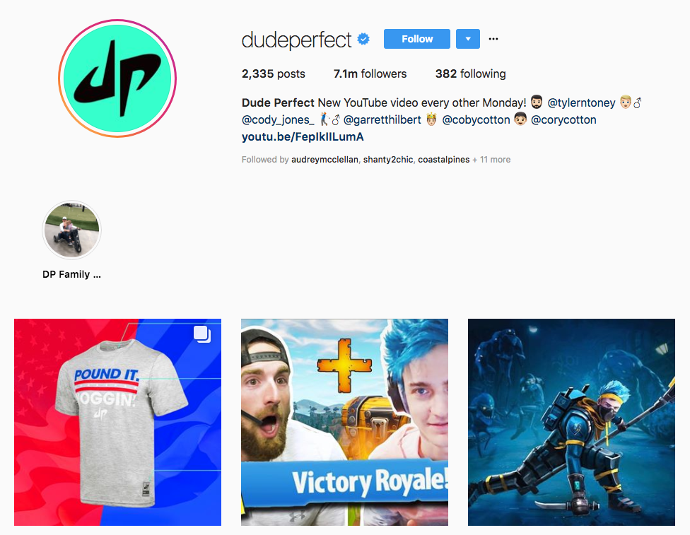 Dude Perfect top sports influencers