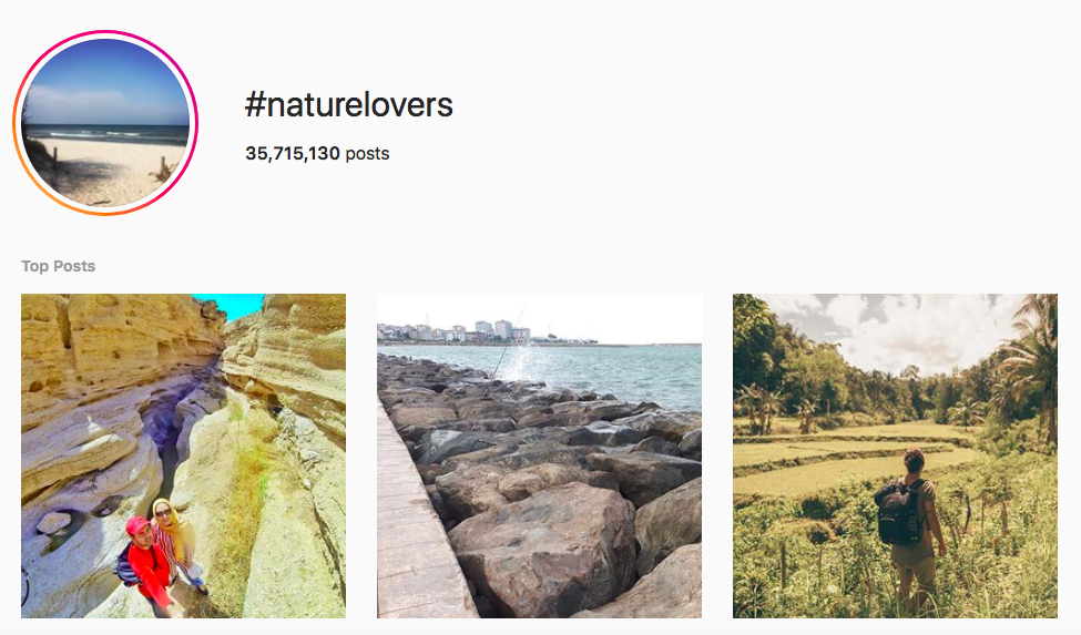 best outdoor instagram hashtags #naturelovers