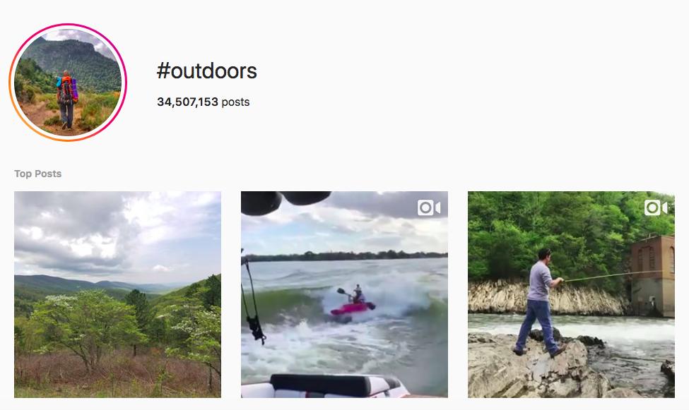 best outdoor instagram hashtags #outdoors