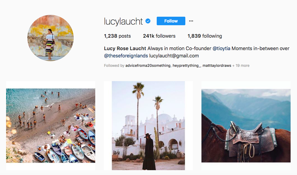 Lucy Rose Laucht top luxury travel influencers