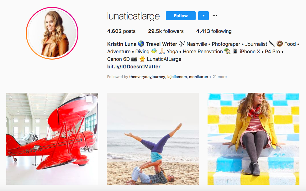 Kristin Luna top luxury travel influencers