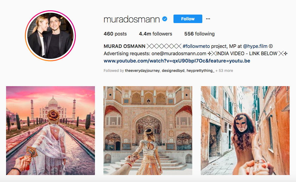 MURAD OSMANN top luxury travel influencers