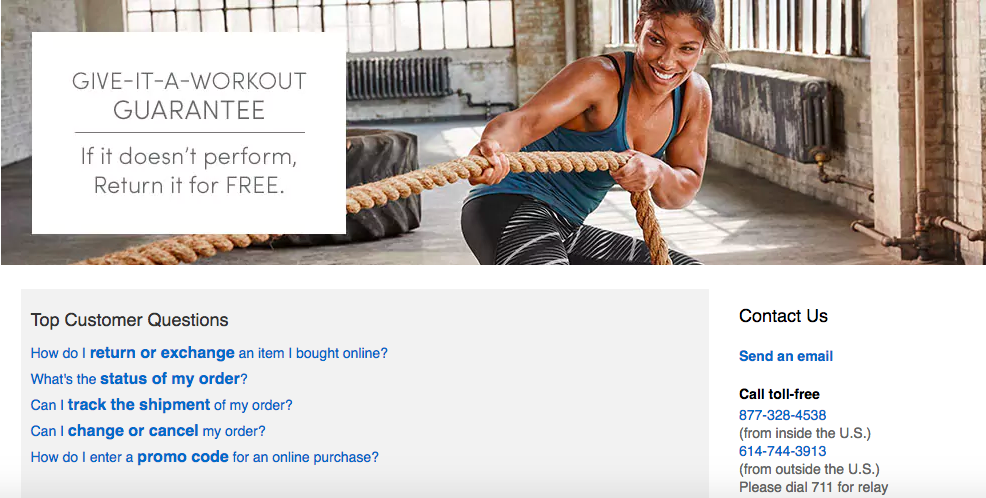 Athleta Ecommerce Product Page Examples