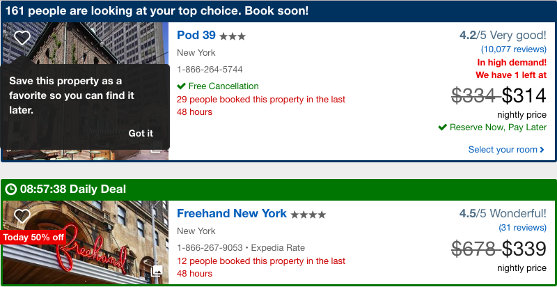 Expedia Ecommerce Product Page Examples