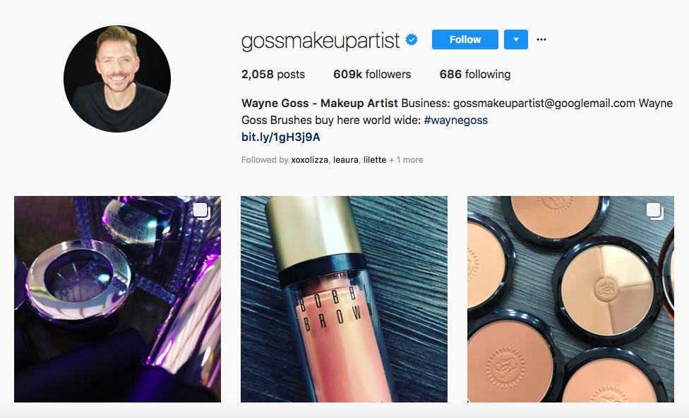 Wayne Goss, los mejores influencers masculinos en belleza