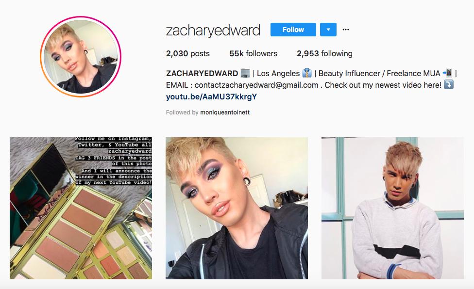 ZACHARY EDWARD: los mejores influencers masculinos en belleza