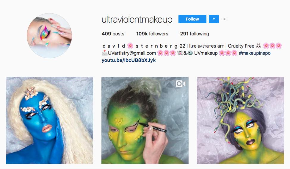 maquillaje ultraviolento los mejores influencers de belleza masculina