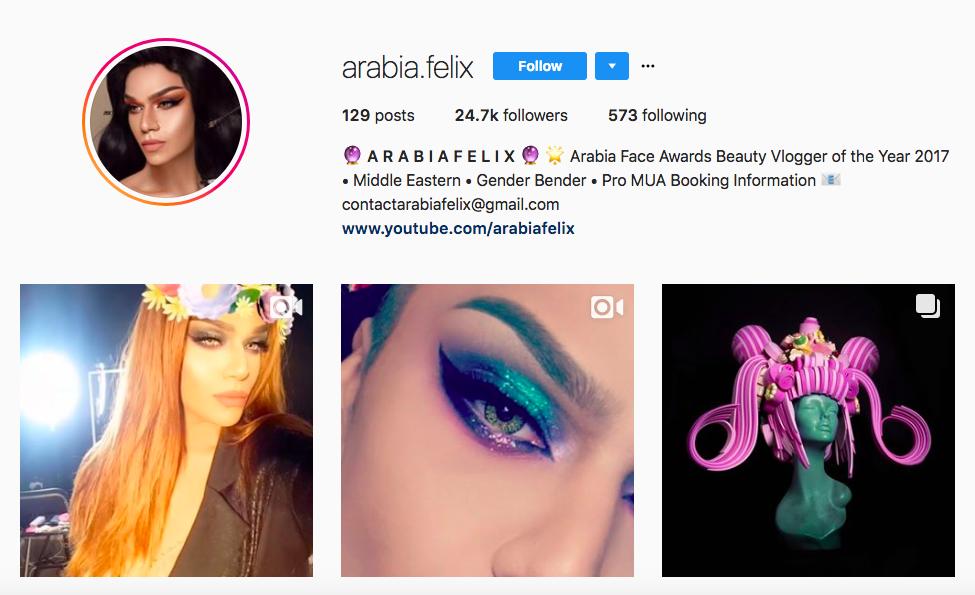 arabia felix mejores influencers masculinos en belleza