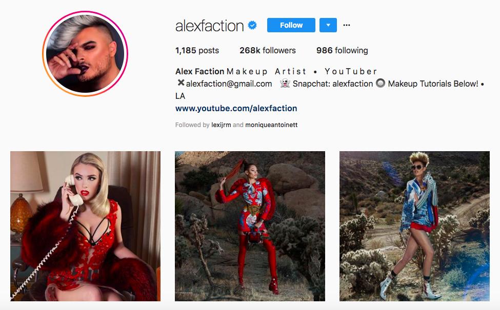 Los mejores influencers masculinos de la belleza de Alex Faction