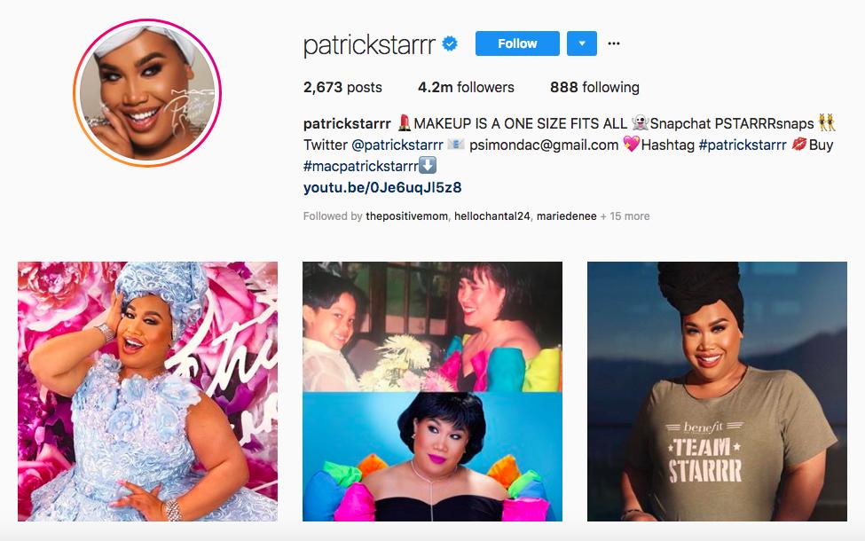 patrick starrr mejores influencers masculinos en belleza
