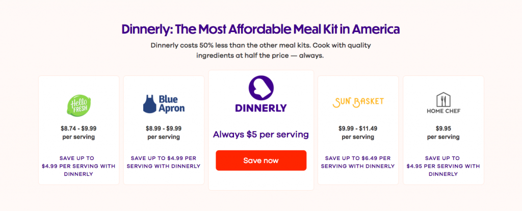 Dinnerly Ecommerce Landing Page