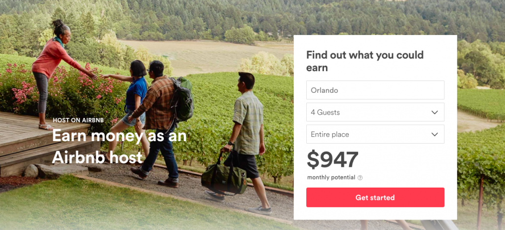 AirBnB Ecommerce Landing Page