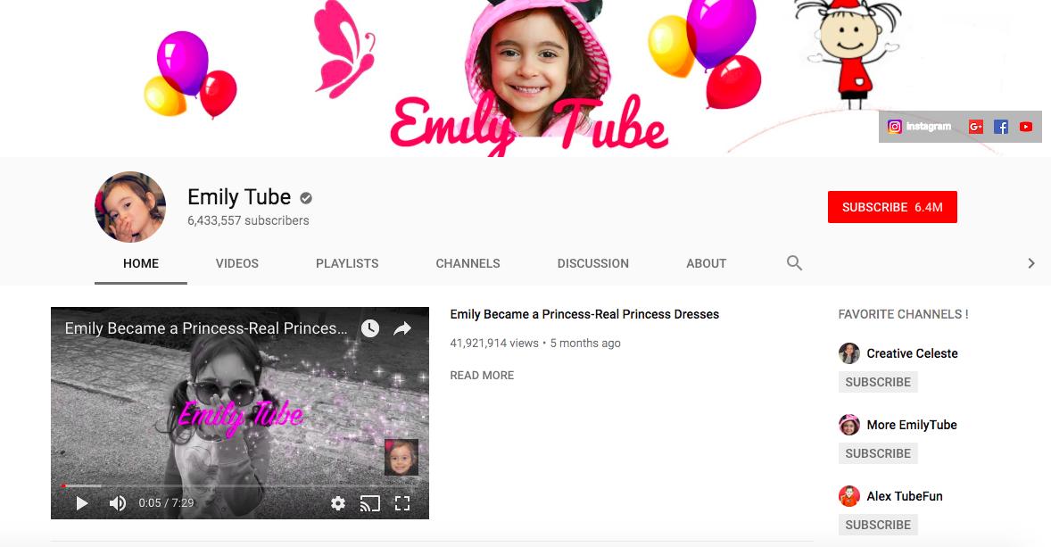 Emily Tube top British YouTubers