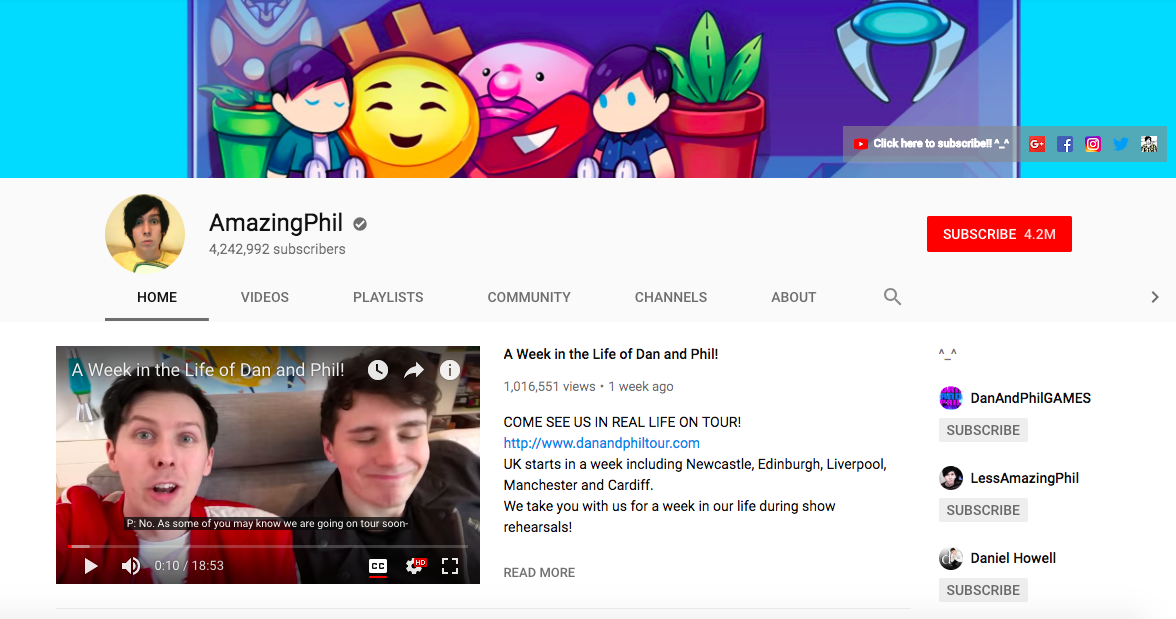 AmazingPhil top British YouTubers