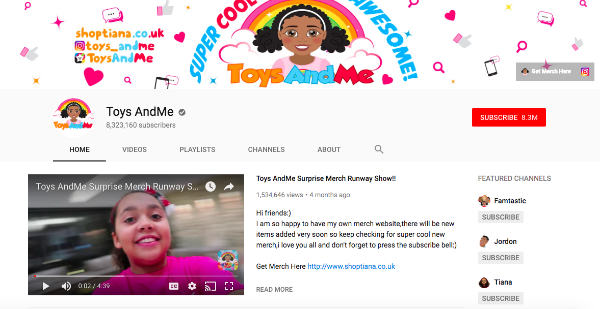 Toys AndMe to British YouTubers