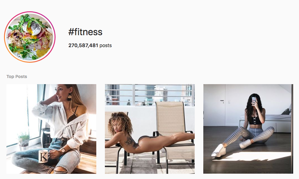 #fitness top instagram hashtags
