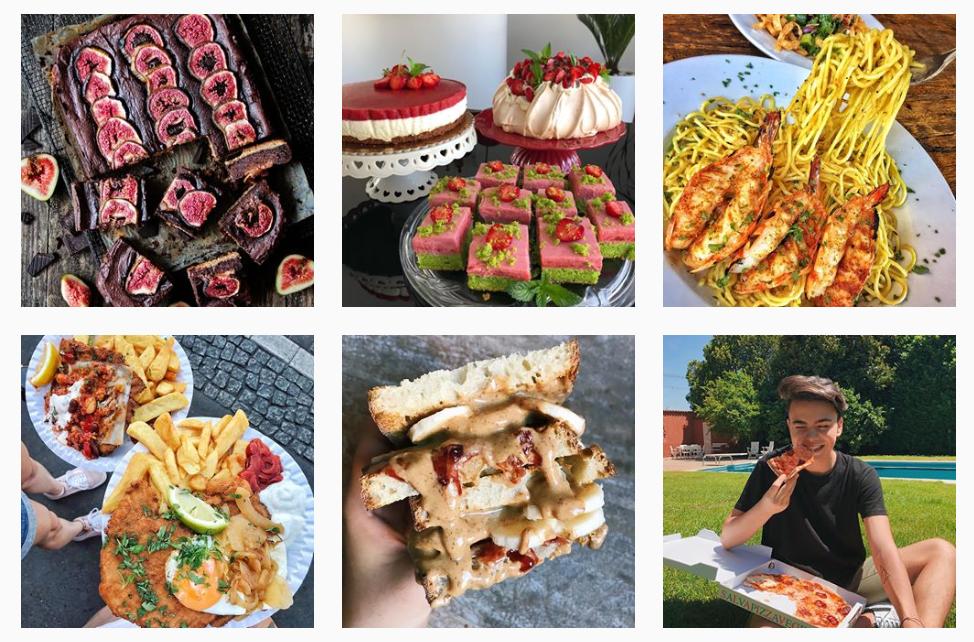 #foodporn top instagram influencers