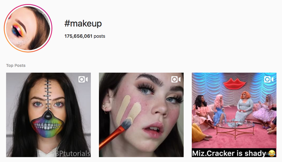 #makeup top instagram hashtags