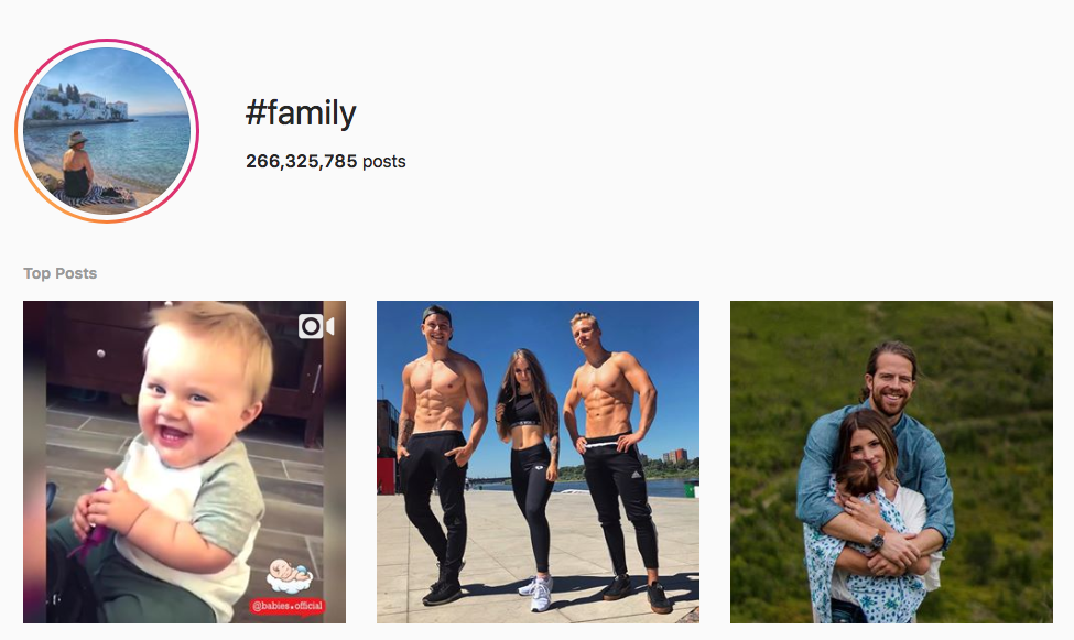 #family top instagram hashtags