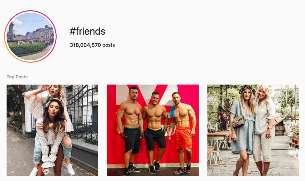 #friends top instagram hashtags