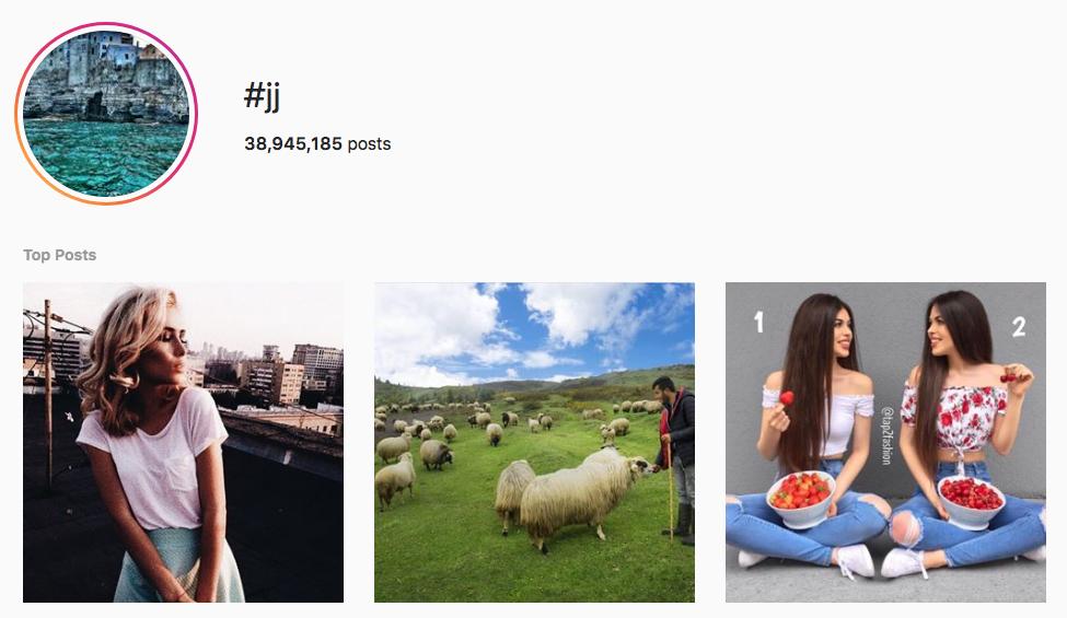 #JJ top instagram hashtags