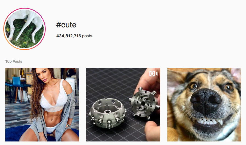 #cute top instagram hashtags